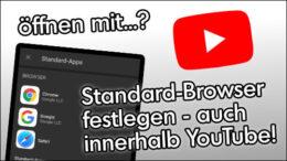 YouTube Standard Browser wählen Safari iOS iPhone
