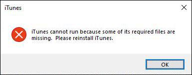 iTunes Windows 10 startet nicht Fehlermeldung