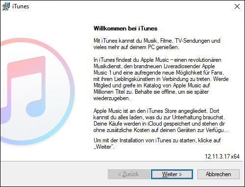 iTunes Windows neu installieren Fehlermeldung